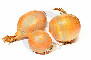 Onions On White Background. Stock Photos - Image: 9715753