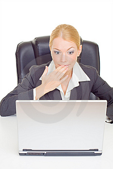 Businesswoman Expressing Suprise Stock Photo - Image: 9716980