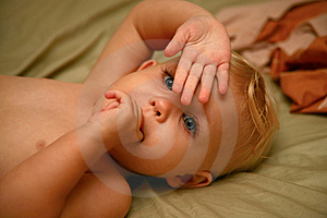Baby Hiding Royalty Free Stock Photos - Image: 9717398