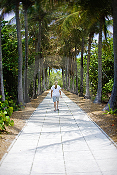 Peaceful Walk On Vacation Stock Photo - Image: 9719160