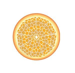 Slice Of Fresh Orange Stock Photo - Image: 9720440