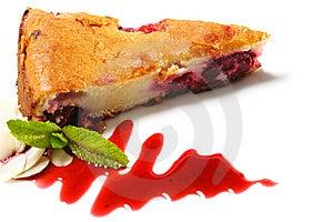 Dessert - Cherries Cake Royalty Free Stock Image - Image: 9721256