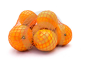 Net With Mandarines Royalty Free Stock Images - Image: 9721799