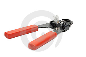 Professional Pincers Movement For Grip RJ45 Royalty Free Stock Photos - Image: 9722408