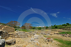 Archaeological Site Of Morgantina Royalty Free Stock Image - Image: 9722556