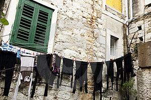 Clothesline In Split Royalty Free Stock Photo - Image: 9723705