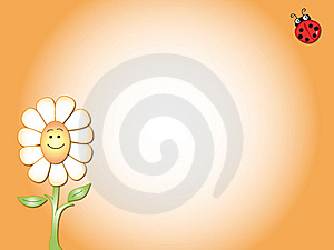 Daisy Card Royalty Free Stock Images - Image: 9728179