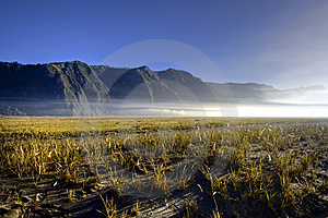 Bromo Volcano - Sea Of Sand Stock Image - Image: 9728671