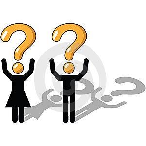 Het Vragen, Onzekere Onzekerheid, Royalty-vrije Stock Foto's - Afbeelding: 9729428
