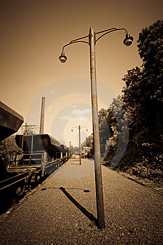 Old Train Station Of A Blast-furnace Plant Stock Photos - Image: 9730543
