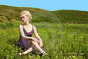 Woman On Nature Royalty Free Stock Photos - Image: 9732088