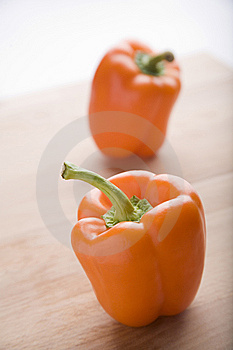 Orange Peppers Royalty Free Stock Photography - Image: 9733557