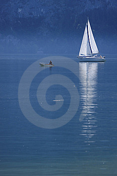 Morning Of Lake Traunsee, Upper Austria Royalty Free Stock Image - Image: 9734296