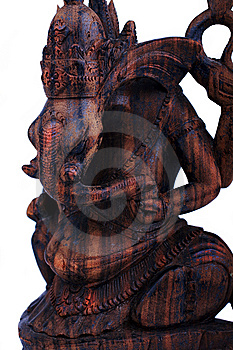 Wooden Statuette Of God Ganesh Stock Photos - Image: 9734493