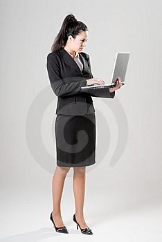 Businesswoman With Laptop Royalty Free Stock Photography - Image: 9734657