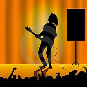 Donna con la chitarra Immagini Stock