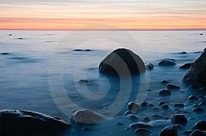 Baltic Seaside After Sunset Stock Photos - Image: 9735363