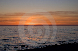 Baltic Seaside After Sunset Stock Photography - Image: 9735462