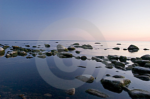 Baltic Seaside After Sunset Stock Images - Image: 9736324