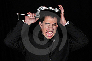 Pressure Of The Businessman Stock Photography - Image: 9736812