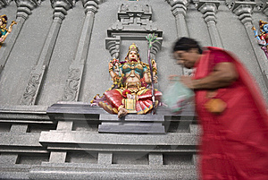 Lakshmi Worshipper Royalty Free Stock Photo - Image: 9737205