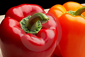 Red And Orange Bell Peppers Stock Images - Image: 9737364