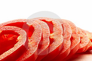 Pieces Of Sliced Pepper Stock Photography - Image: 9737852