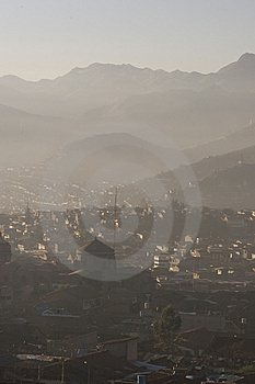 Cuzco On A Misty Morning Stock Photo - Image: 9738370