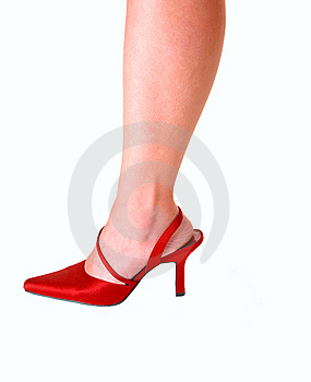 Womans Leg In High Heels. Royalty Free Stock Photo - Image: 9739525