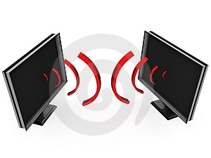 Transmission Waves From Plasma Televisions Stock Photos - Image: 9742503