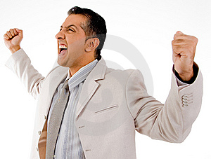 Side View Of Successful Manager Looking Aside Royalty Free Stock Photos - Image: 9742858