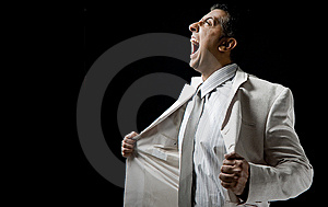 Side View Of Shouting Manager Holding His Coat Royalty Free Stock Photo - Image: 9743095