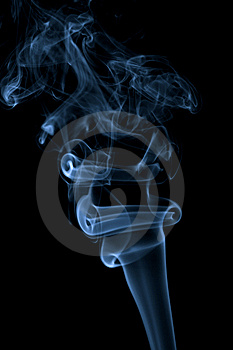 Abstract Blue Smoke Isolated Stock Photos - Image: 9745753