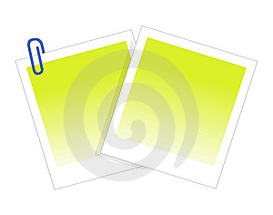 Post-It Note And Clip Stock Image - Image: 9745801