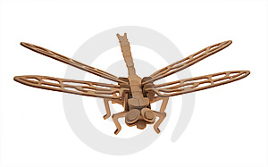Dragonfly Wooden Model Royalty Free Stock Photo - Image: 9751295