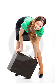 Woman And Attache Case Royalty Free Stock Photo - Image: 9754335