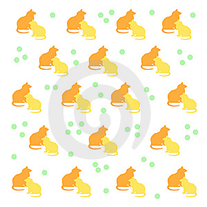 Kitty Cat Pattern Royalty Free Stock Photo - Image: 9754915