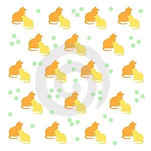 Kitty Cat Pattern Royalty Free Stock Photo - Image: 9754915