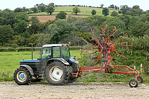 Tractor And Swather Stock Photography - Image: 9756342