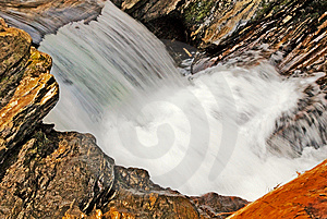 Water Flowing Over Rocks Royalty Free Stock Photos - Image: 9757468