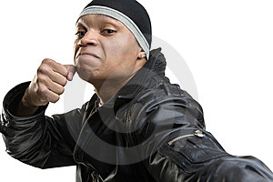The Aggressive Young Man Royalty Free Stock Images - Image: 9757559