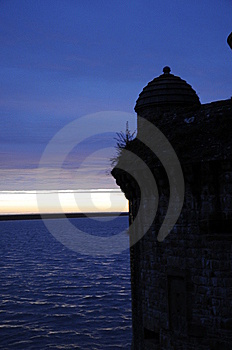 Shadow Shape Of Old Castle After Sunset Stock Photography - Image: 9758162