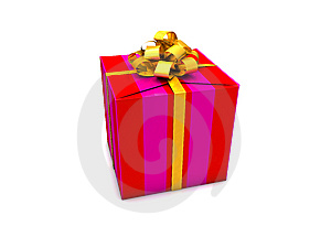 Gift Box With A Myriad Of Color Lines Stock Images - Image: 9758964