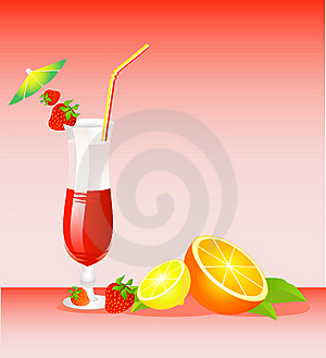 Fruits Bright Cocktail Royalty Free Stock Photos - Image: 9763108