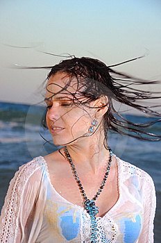 Wet Hair Royalty Free Stock Images - Image: 9763169
