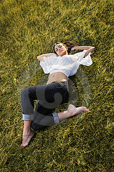 Beauty On The Grass Royalty Free Stock Image - Image: 9763216