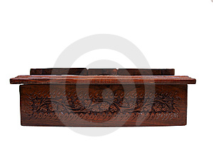 Wooden Floral Chest Front One Royalty Free Stock Photography - Image: 9763217