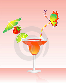 Fruits Bright Cocktail Royalty Free Stock Image - Image: 9764156