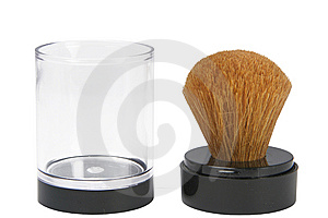 Brush For Powder Royalty Free Stock Photos - Image: 9764228