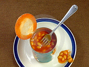 Meal Of Baked Beans Royalty Free Stock Photo - Image: 9764255